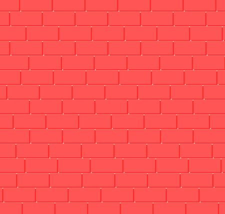 Pink brick wall background.