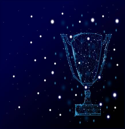 champion cup on the galaxy,Trophy,winner concept.