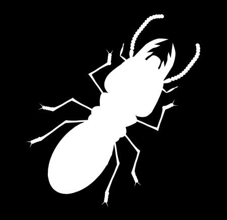 Termite with black back ground in cartoon style Illustration