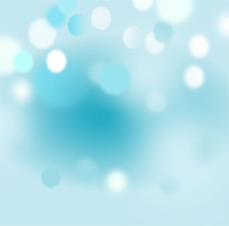 Abstract bokeh with blurred blue background,texture,winter concept,vector.