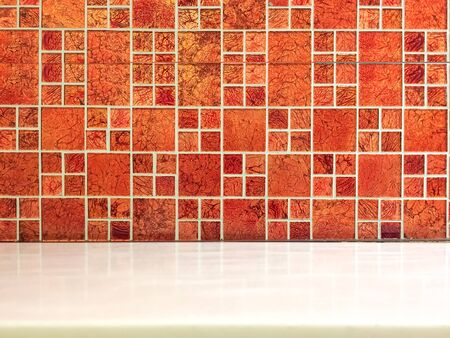 Red tile background texture