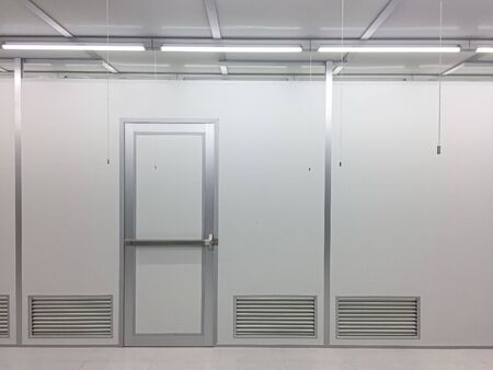 Inside Clean room class 1000 with emergency door at factory,empty room