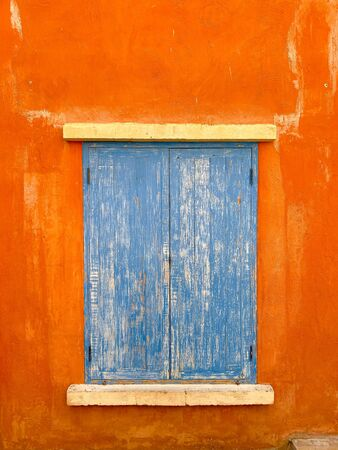 old window or door with retro style background. Stock fotó