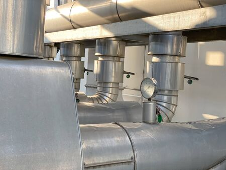 process cooling system with stainless pipe line system Stock fotó