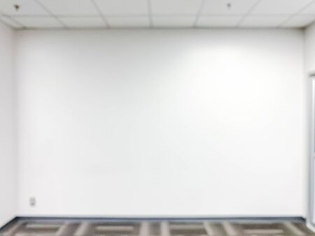 Empty training room with space,white wall background