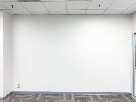 Empty training room with space, white wall background
