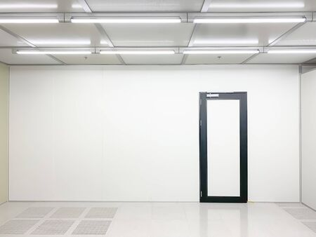 Empty Clean room with exit door at factory