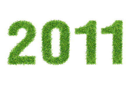 Year Made of grass material Stock Photo - 9686188