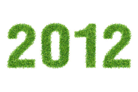 Year Made of grass material Stock Photo - 9686189
