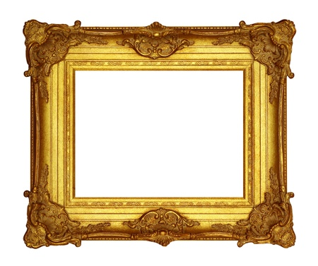 ornamentations: Frame gold  Stock Photo