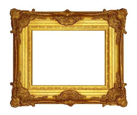 gilt: Frame gold  Stock Photo