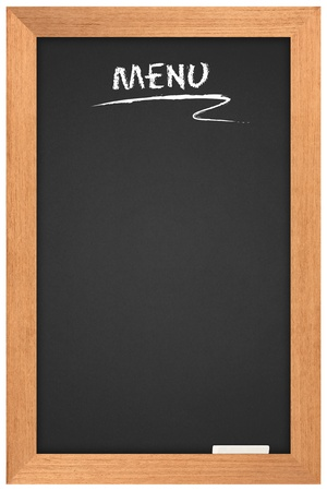 menu blackboard. a space for writing on a black background.  photo