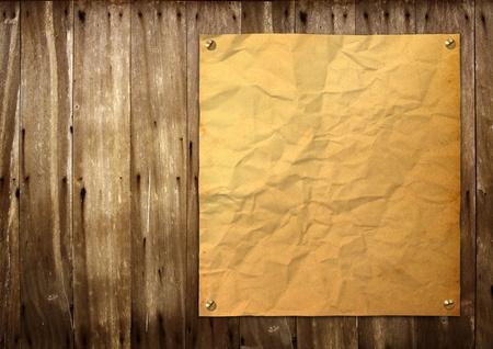 Old vintage poster on wood.  photo