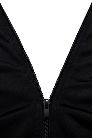 Zip on coat fabric jacket photo