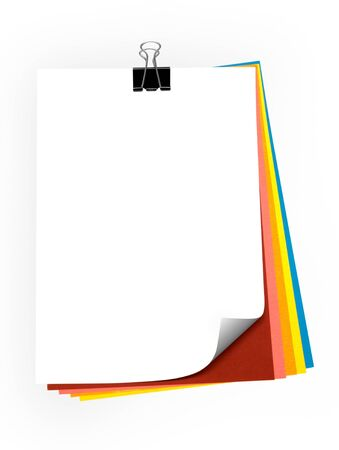 colorful paper sheets  Stock Photo - 9868085