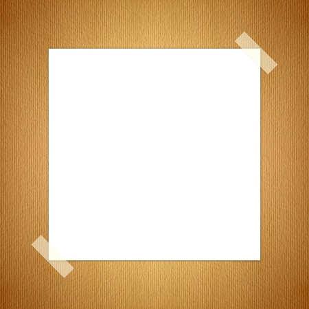 white paper. with tape stain on placed on the surface of old paper.  Stock Photo - 10016971
