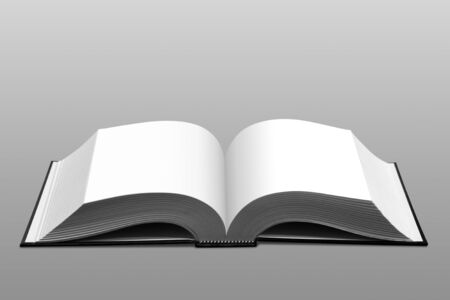 Open book on gray background Stock Photo - 10016968
