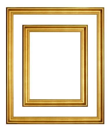 marco de oro sobre fondo blanco