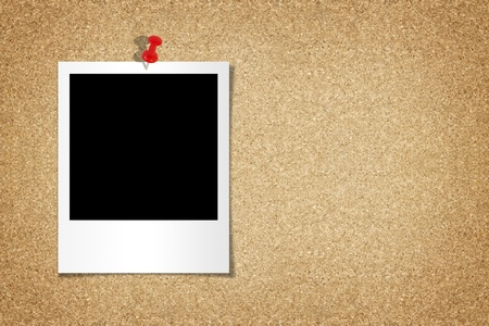 Blank on the cork board. with The red pins stuck. Stock Photo - 10311560