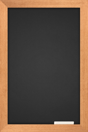 blackboard with wooden frame and are colored white pastel  photo