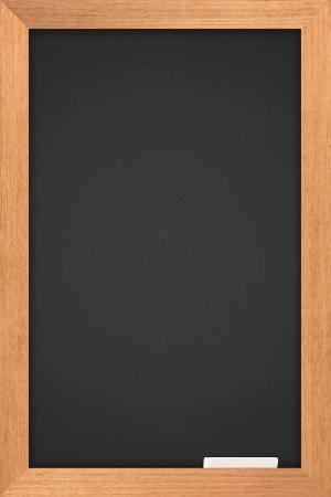 vertical: pizarra con madera de fotograma y son de color pastel blanco  Foto de archivo
