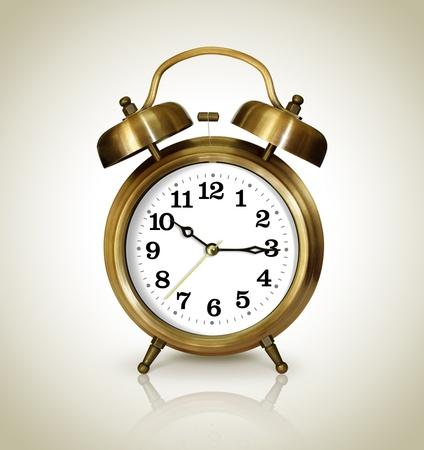 reloj antiguo: Despertador, oro antiguo
