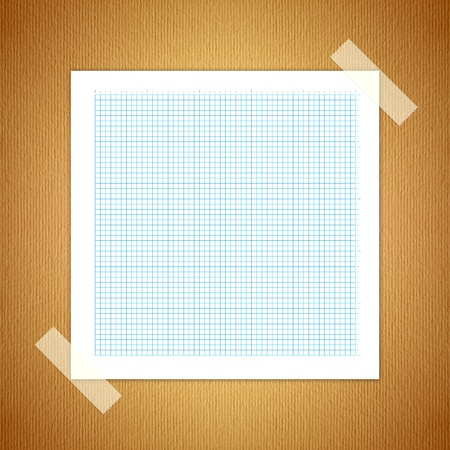 Green Line graph paper, old paper laying on the ground. Stock Photo - 10017024