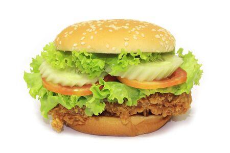 Hamburger  on white background photo