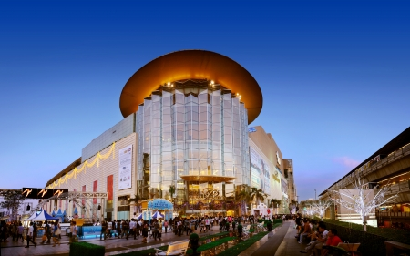 Siam paragon shopping center at night Bangkok, Thailand. Photo taken on: December 30th, 2010 Editorial