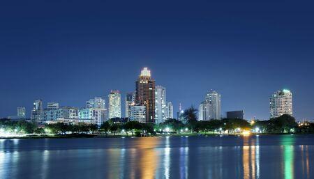 City town at night, Bangkok, Thailand  Stock Photo - 10086379