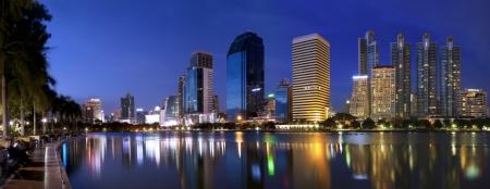 Panorama Bangkok city at night Bangkok, Thailand