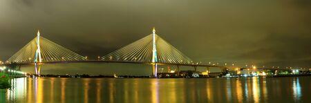 expressway: Panorama Industry Ring Suspending bridge,Bangkok, Thailand