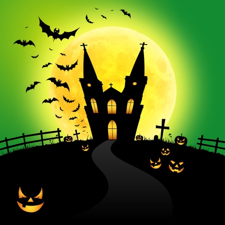moon  owl  silhouette: Halloween party
