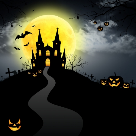 calabazas de halloween: Luna Llena de Halloween