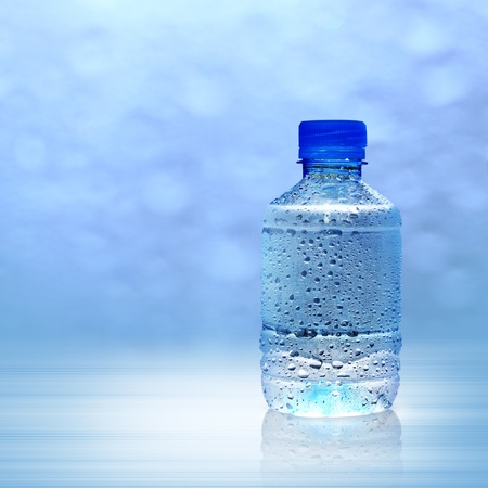 condensation bottle with water condensation in the bottle mineral water photo