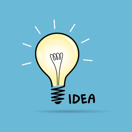 Bulb light idea illustration  Vector