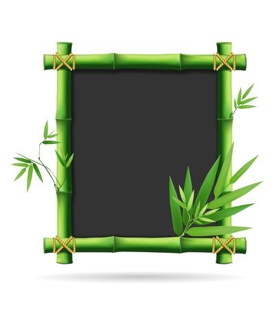 chinese menu: Bamboo blackboard, vector illustration