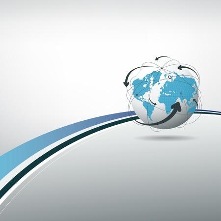 globe arrow: Globe connections concept design, vector illustration  Illustration