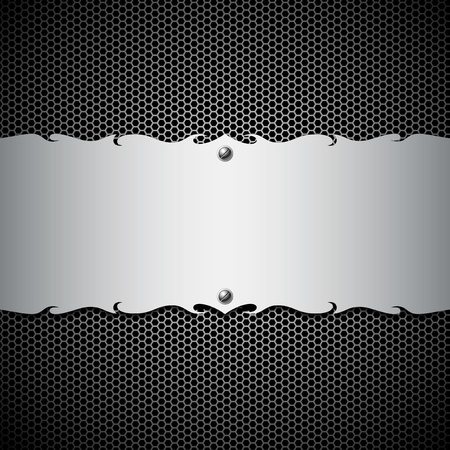 Empty metal stainless steel modern backgrounds, illustration Vector
