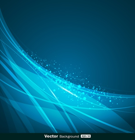 ondulation: R�sum� illustration bleu vecteur de fond de conception