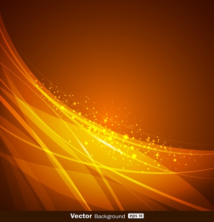 Abstract yellow and orange background design  vector  Vector
