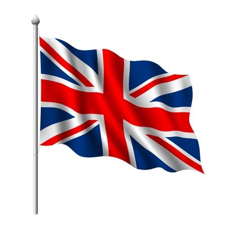 bandiera inghilterra: Bandiera della illustrazione del Regno Unito Vettoriali