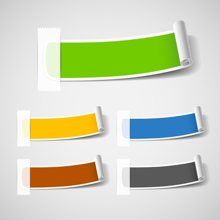 Colorful Label paper roll design illustration Vector
