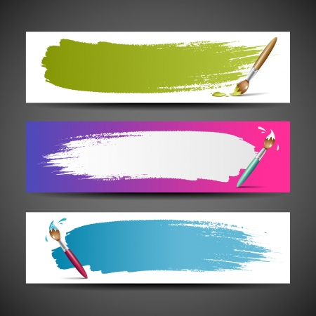 Colorful Paint brush background, Vector illustration Stock Vector - 14615689