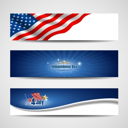 American independence day backgrounds, vector illustration Vector