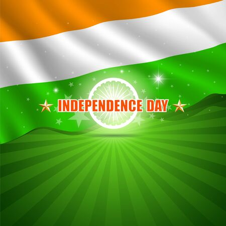 Happy Independence Day India background, vector illustration Vector