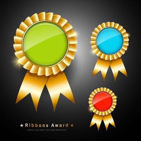 Collections ribbons award, vector illustration Stock Vector - 14615707