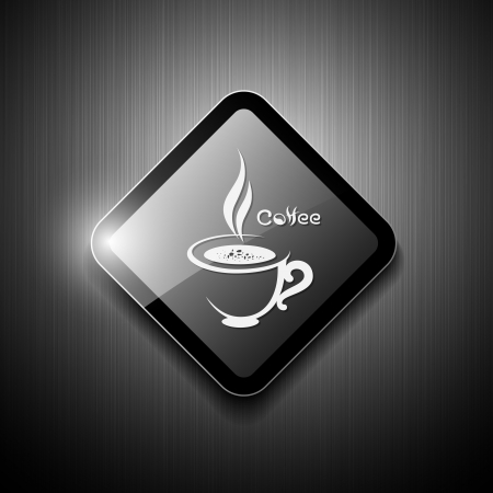 cold drinks: Coffee cup sign modern design  vector illustration