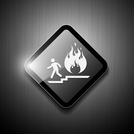 fire exit sign: Fire exit sign modern design, vector illustration