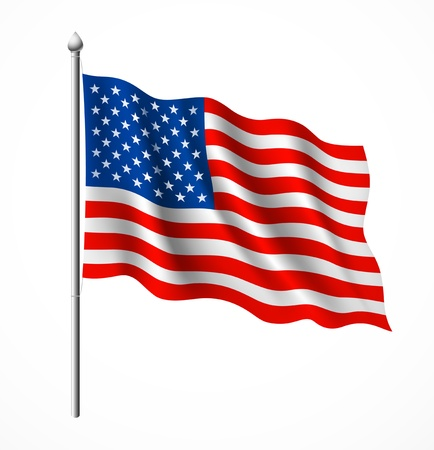 patriotic usa: Flag of American, vector illustration Illustration